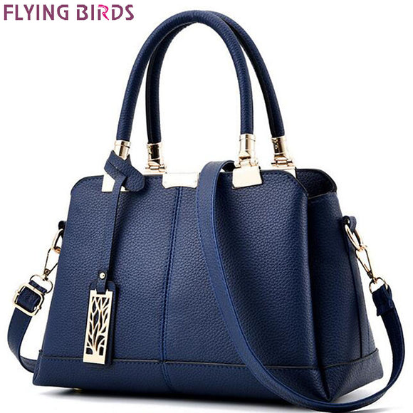 FLYING BIRDS women tote designer famous brands women leather handbag patchwork purse shoulder bag messenger bags A17fb - Free Wear USA