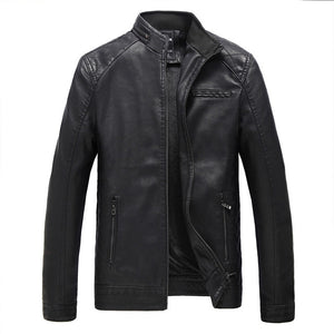 FGKKS Brand Motorcycle Leather Jackets Men Autumn and Winter Leather Clothing Men Leather Jackets Male Business Casual Coats - Free Wear USA