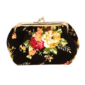 2016 Wallets For Womens Fashion Women Lady Retro Vintage Flower Small Wallet Bag Purse Clutch Bag Hasp Handbag sacoche homme - Free Wear USA