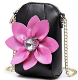 FLYING BIRDS Mini Bags Chains Rhinestone Shoulder Coins Purse Mobile phone bag Women Messenger Bags High Quality Flower Handbag - Free Wear USA