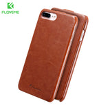 FLOVEME Vintage Flip Leather Case for iPhone 6 6s 7 / 7 Plus 2017 Luxury Vertical PU Leather Wallet Phone Cover For iphone6 Capa - Free Wear USA