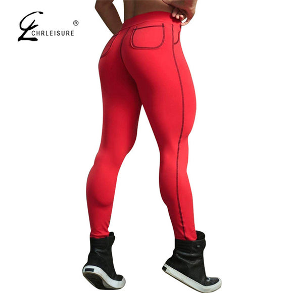 CHRLEISURE  Push Up Leggings  With  Pockets/ 4 Colors S-XL - Free Wear USA