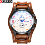 CURREN Men's Sport Brand Quartz Watch Men Wrist Watch Top Brand Luxury Quartz-Watch Leather Strap Military Male Clock Fashion - Free Wear USA