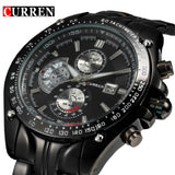 Curren fashion auto Date full steel Sport Watch Men's Military Business Casual quartz Wristwatch Brand Relojes Hombre Male - Free Wear USA