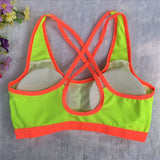 Women Yoga Fitness Stretch Workout Tank Top Seamless Racerback Padded Sports Bra - Free Wear USA