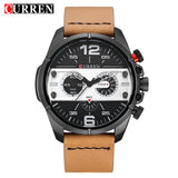 Curren 8259 Mens Watches Top Brand Luxury Leather Military Quartz Watch Men Casual Sport Clock Male Wristwatch Relogio Masculino - Free Wear USA