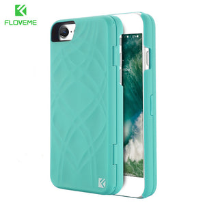 FLOVEME Mirror Case For iPhone 6 6s 7 Plus Wallet+Card Slot Cover Makeup Phone Cases For Apple iPhone 8 X 7 Plus 10 Woman Coque - Free Wear USA
