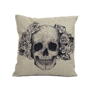 Home Sofa Bed Cars Decoration Vintage Skull Pillowcover Skull Cushion - Free Wear USA