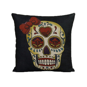 Home Sofa Bed Cars Decoration Vintage Skull Pillowcover Skull Cushion New - Free Wear USA