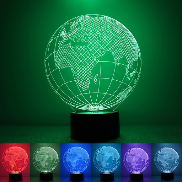 3D visual effect America map/ globe shape LED night light/lamp - Free Wear USA