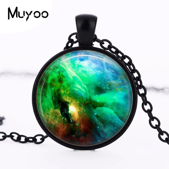 Orion Nebula  Vintage Pendent Necklace