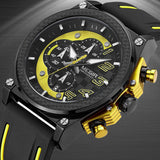 MEGIR Men Watches Analog Quartz Wristwatch Waterproof Chronograph Auto Date Sports Army Military Watch Male Relogio Masculino