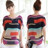 1PC Sexy Women Summer Perspective Casual Loose Chiffon Tops Blouses T-Shirt - Free Wear USA