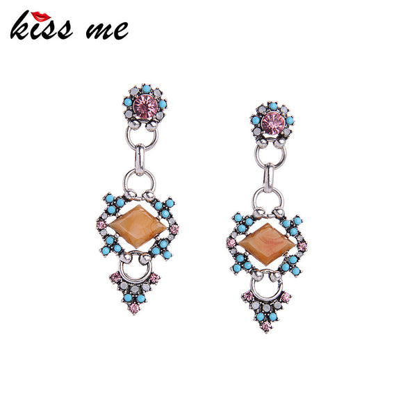 KISS ME Brand Fancy Flowers Earrings for Girls New Trending Women Bijoux Jewelry Dangling Drop Earrings