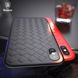 Baseus Luxury Grid Pattern Case For iPhone X Cases Ultra Thin Soft Silicone Protective Case For iPhoneX Cover Matte Coque Funda - Free Wear USA