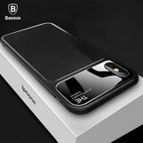 Baseus Luxury Phone Case For iPhone X 10 Capinhas Soft TPU & Glass Back Cover Fitted Case For iPhone 8 7 Plus Coque Fundas - Free Wear USA