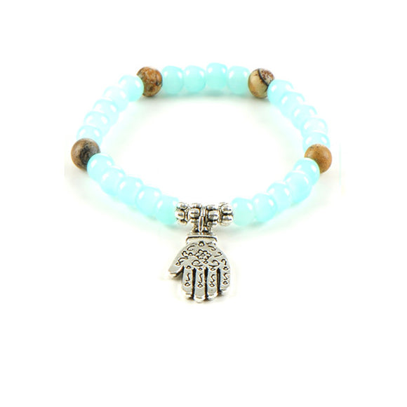 Hamsa Bead Yoga Bracelet - Free Wear USA