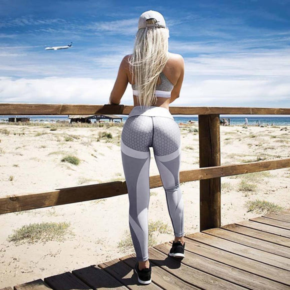 Fashion Womens 3D Print Skinny Workout Leggings Cropped Regular Pants summer tops for women 2018 - Free Wear USA