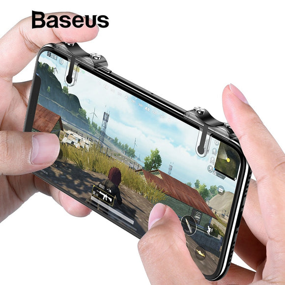 Baseus Mobile Phone Shooting Game Trigger Fire Buttons L1, R1 Game Controller for Android IOS - Free Wear USA