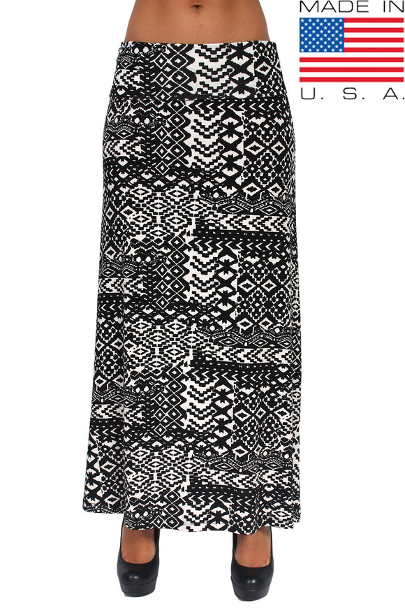 Rayon Print Full Length MAXI SKIRT