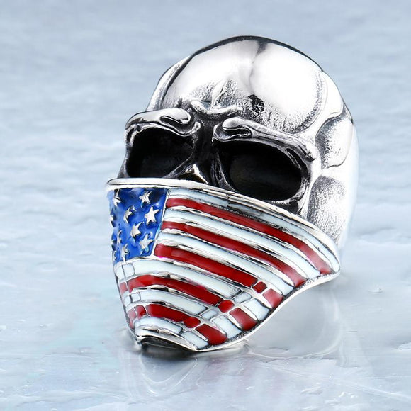 American Infidel Skull Ring - Free Wear USA