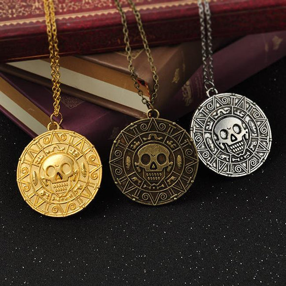 Aztec Skull Necklace - Free Wear USA