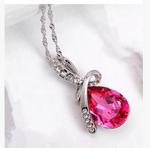 Angel Tears Crystal Necklace - Free Wear USA