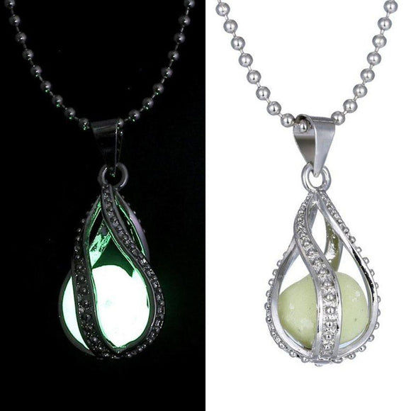 The Little Mermaid Teardrop Glow in Dark Necklace - Free Wear USA