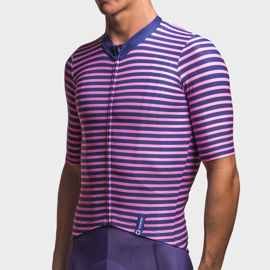 Team Collection Men's Stripes Pink Navy Jersey