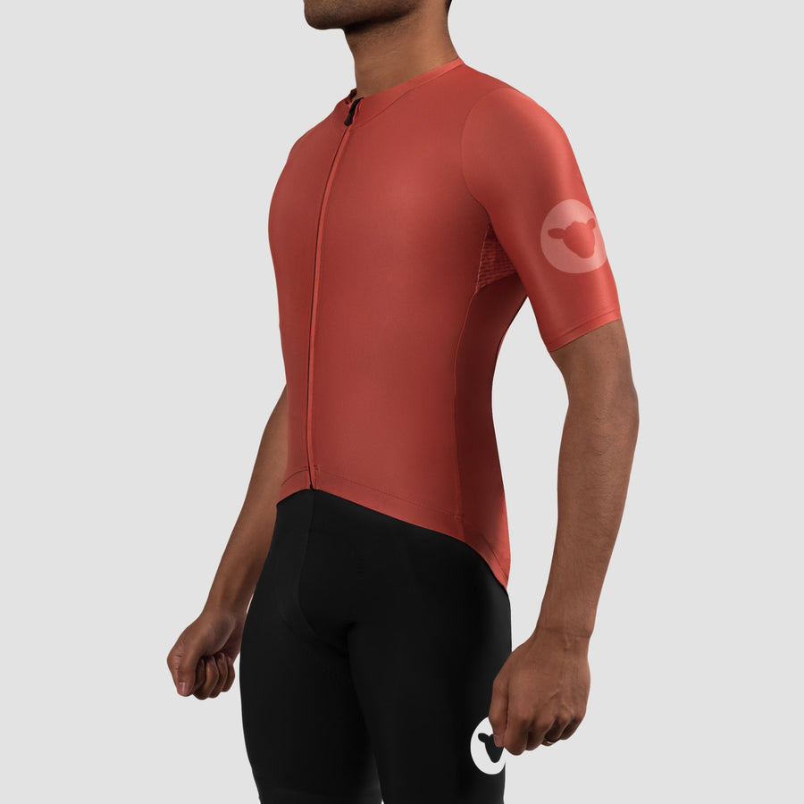 Men's TC19 Block Jersey - Spice Red