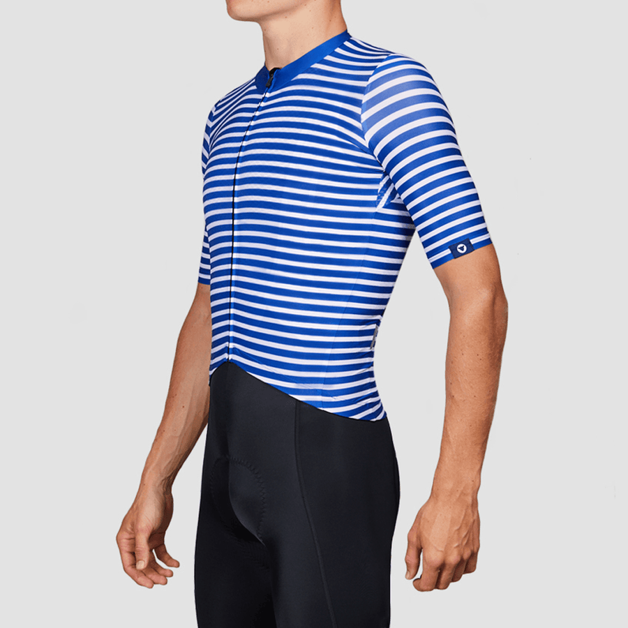 Men's TC19 Stripe Jersey - Racing Blue
