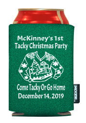 Christmas Party Holiday Koozies