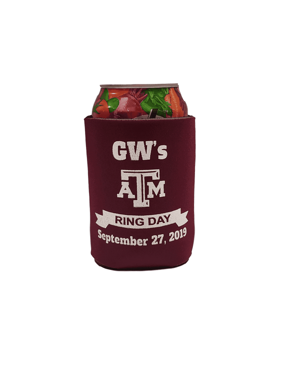 Texas A & M Ring Day Can Cooler