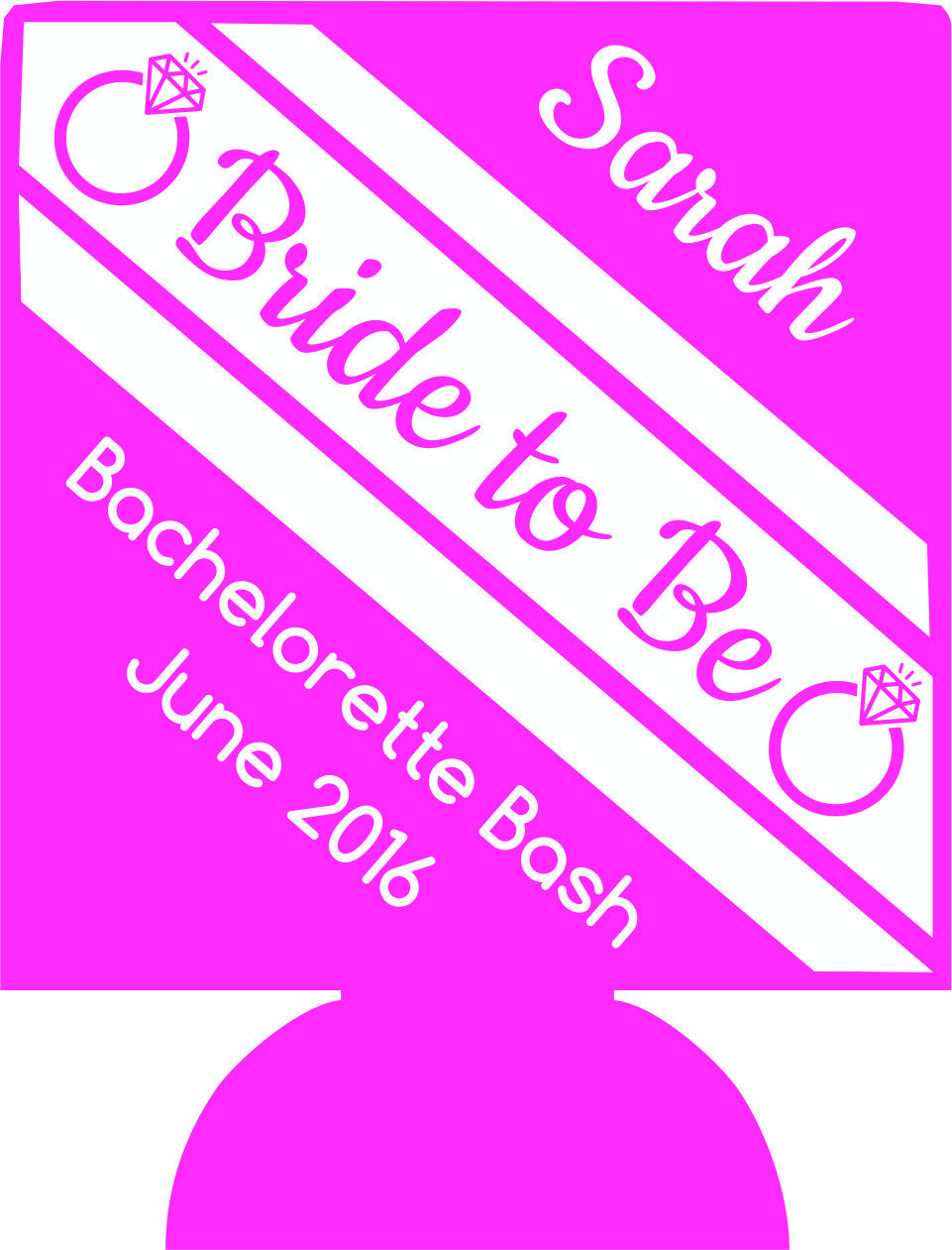 Bride to Be bachelorette Koozies