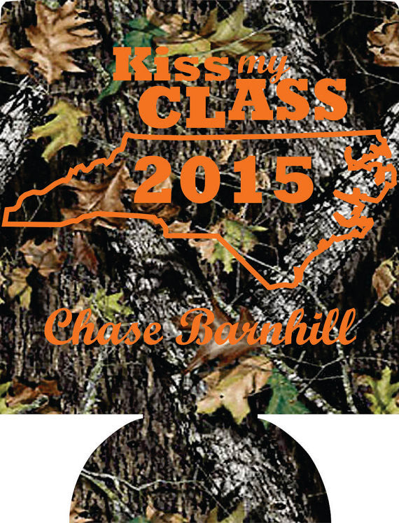 Camo graduation party favors can coolers personalized 1014304331