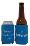 i survived beach bash koozie custom can coolers