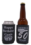 Cheers and Beers to 50 years Birthday koozie can coolies