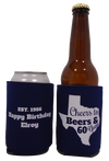 State Cheers & Beers to 60 years Birthday koozie Texas can coolers