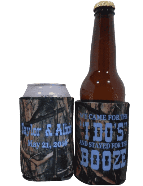 We came for the i do's and stayed for the booze Koozie Can Coolers