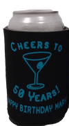cheers to 50 years birthday koozie can coolers