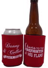 Firefighter Wedding Koozies Fireman Coozies party favors Can Coolers