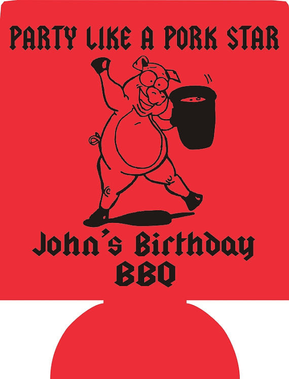 Birthday BBQ party favors can coolers 1099507741