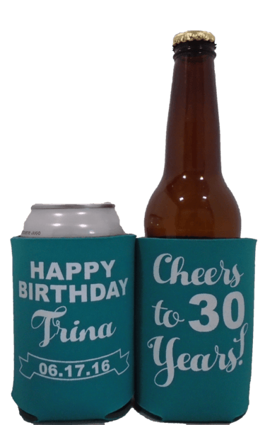 Cheers to 30 Years happy birthday koozies can coolers