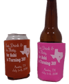 Eat drink and be Flirty turning 30 Koozie can coolers