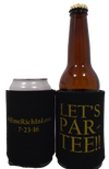 Let's Par - Tee wedding koozie custom can coolers