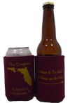 Florida State Wedding Koozies Cheer on the Noles can cooler