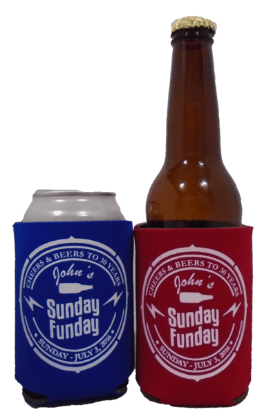 30th Birthday Koozie sunday funday can coolers