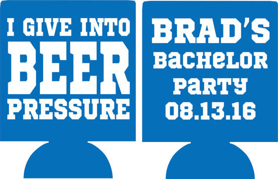 Beer Pressure Bachelor Party koozies