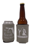 Florida Wedding Koozies Mr and Mrs