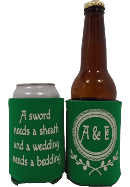 Game of Thrones koozie sayings Wedding party favors Can Coolers